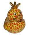 Xl spaarpot eend met kroontje type 4 28 cm