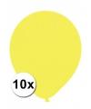 Xxl ballonnen geel 10 stuks