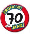 Xxl verjaardags button 70 jaar