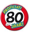 Xxl verjaardags button 80 jaar
