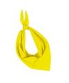 Zakdoek bandana geel