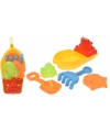 Zand speelgoed boot geel met accessoires
