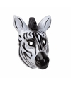 Zebra masker 3d plastic 22cm