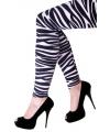 Zebra print legging voor dames