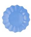Zeeblauwe diepe bordjes 27 cm