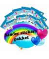 Zeedieren kinder stickers pakket