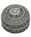 Zilver bewaardoosje oriental rond 8 cm