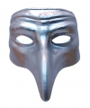 Zilver comedy snavelmasker