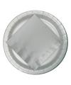 Zilveren bordjes 23 cm