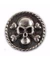 Zilveren chunk doodshoofd 1 8 cm