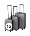 Zilveren dunlop handbagage koffer 45 cm