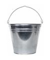 Zilveren emmer 15 liter van zink