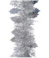 Zilveren folie slinger met blad 270 cm