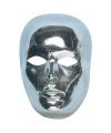 Zilveren gezichtsmasker