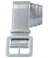 Zilveren glitter riem 120 cm