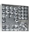 Zilveren kerstboomversiering 45 delig