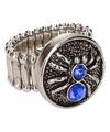 Zilveren ring met blauwe spin chunk