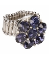 Zilveren ring met blauwe steentjes chunk