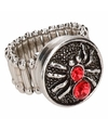 Zilveren ring met rode spin chunk