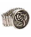Zilveren ring met roos chunk