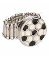 Zilveren ring met voetbal chunk
