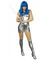 Zilveren spacegirl kostuum