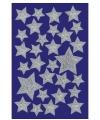 Zilveren sterren stickers met motief