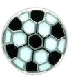 Zilveren voetbal chunk 1 8 cm