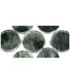 Zilveren zelfklevende mozaiek rond