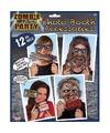 Zombie foto prop set 12 delig
