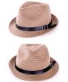 Zomer hoed met zwart riempje