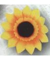 Zonnebloem broche 5 cm