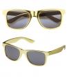 Zonnebril met goud montuur