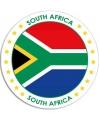 Zuid afrika sticker rond 14 8 cm