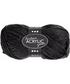 Zwart acryl garen 80 meter
