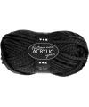 Zwart acryl wol 50 gram
