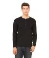 Zwart bella shirt voor heren met knoop