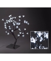 Zwart boompje met witte led bloemetjes 45 cm