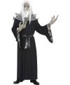 Zwart horror tovenaar kostuum