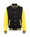 Zwart met geel college jacket voor dames