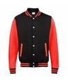 Zwart met rood college jacket voor dames
