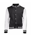 Zwart met wit college jacket voor dames