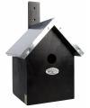 Zwart vogelhuisje 19 x 18 x 31 cm