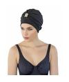 Zwarte badmuts tulband voor dames