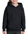 Zwarte capuchon sweater voor meisjes