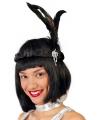 Zwarte charleston twenties hoofdband voor dames