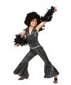 Zwarte disco jumpsuit voor kinderen