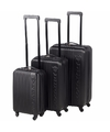 Zwarte dunlop handbagage koffer 45 cm