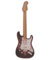 Zwarte elektrische gitaar klok 50 cm