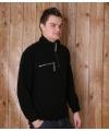 Zwarte fleece trui voor volwassenen